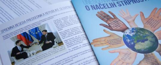 Na več kot 1.100 naslovov smo poslali brezplačen izvod Unescove Deklaracije o načelih strpnosti