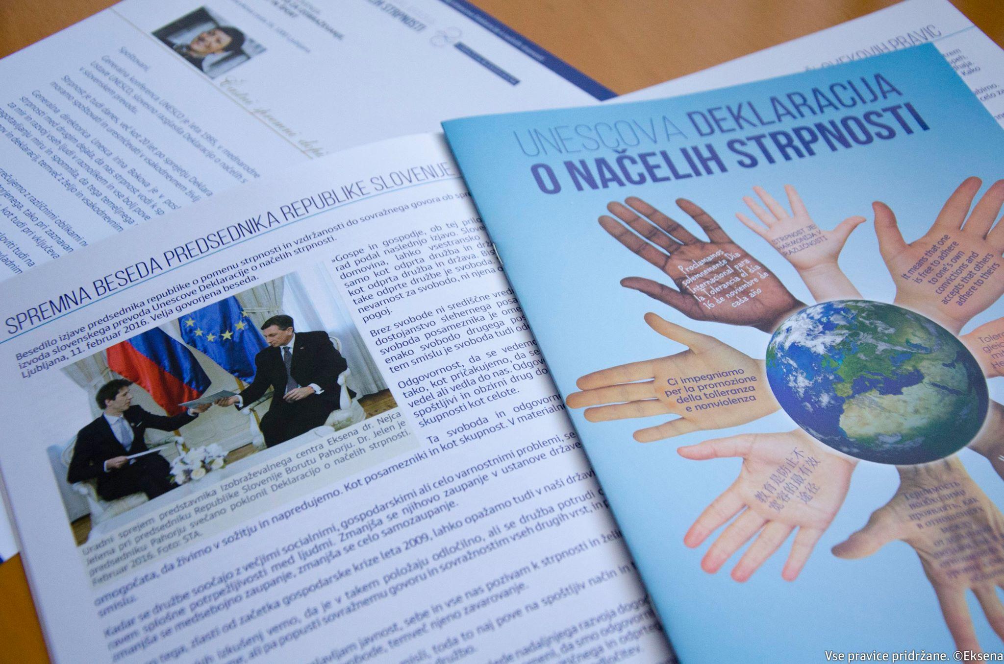 Deklaracija o načelih strpnosti 1100 izvodov eksena