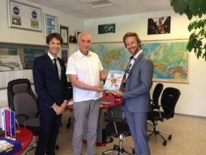 Sprejem pri direktorju podjetja Pipistrel, g. Ivo Boscarolu turneja strpnosti eksena