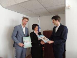 Sprejem pri državni sekretarki na ministrstvu za gospodarski razvoj in tehnologiju, g. Evi Štravs Eksena Deklaracija o načelih strpnosti