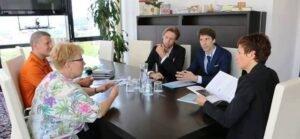 Sprejem pri Ministrici za izobraževanje, Dr. Maji Makovec Brenčič turneja strpnosti eksena