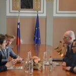Sprejem pri ministru za pravosodje, mag. Goranu Klemenčiču Eksena Šentjur Turneja stprnosti Deklaracija o načelih strpnosti