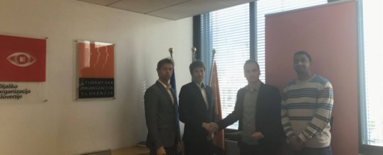 Sprejem pri predsedniku Študentske organizacije Slovenije, g. Aleksandru Spremu