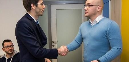 Sprejem pri predsedniku Študentske organizacije v Mariboru, g. Alen-u Brkić-u