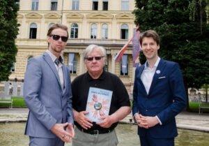 Sprejem pri slovenskem pisatelju g. Tonetu Partljiču turneja strpnosti eksena