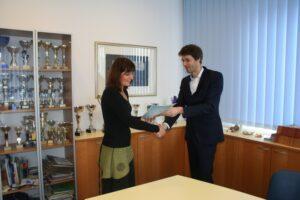 Sprejem pri predsednici GO SVIZ Slovenije, ge. Jelki Velički Turneja strpnosti Deklaracija o načelih strpnosti Eksena